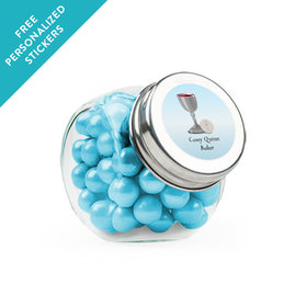 Personalized Communion Mini Side Jar Host and Silver Chalice (24 Pack)