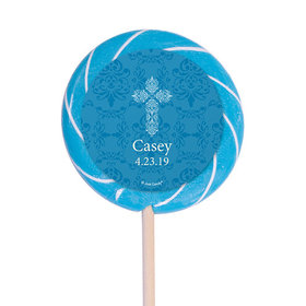 "Personalized Communion 3"" Swirly Pop Elegant Cross (12 Pack)"
