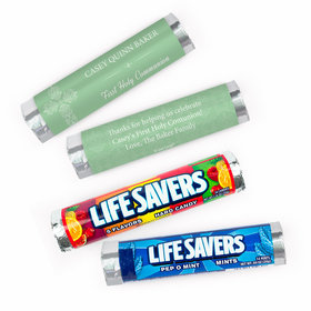 Personalized Communion Elegant Cross Lifesavers Rolls (20 Rolls)