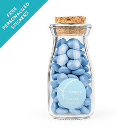 Communion Rosary Personalized Glass Bottle with Cork (24 pack)