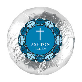 "Personalized Communion Stained Glass 1.25"" Stickers (48 Stickers)"