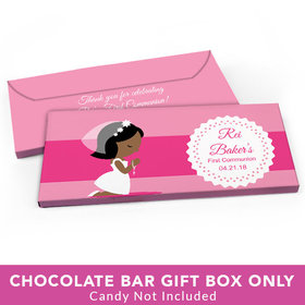 Deluxe Personalized First Communion Little Girl in Prayer Candy Bar Cover
