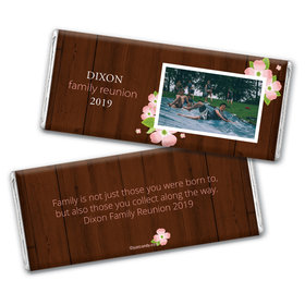 Personalized Family Reunion Dogwood Hershey's Chocolate Bar & Wrapper