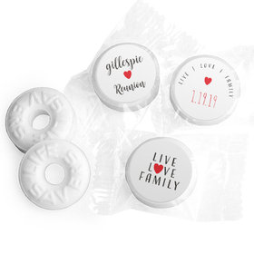 Personalized Family Reunion Live-Love-Family Life Savers Mints