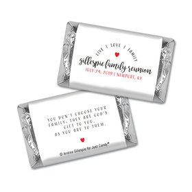 Chocolate Candy Bar and Wrapper Live-Love-Family Reunion Favor