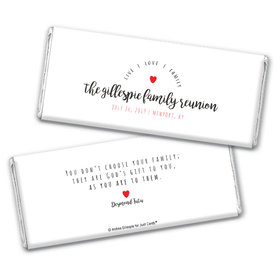 Family Reunion Personalized Chocolate Bar Wrappers Live-Love-Family