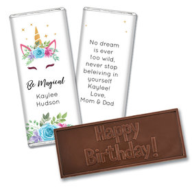 Personalized Birthday Magical Unicorn Embossed Chocolate Bar