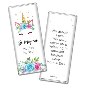 Personalized Birthday Magical Unicorn Chocolate Bar Wrappers Only