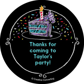 "Chalk Birthday Personalized 2"" Stickers (20 Stickers)"
