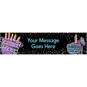 Personalized Chalk Birthday 5 Ft. Banner