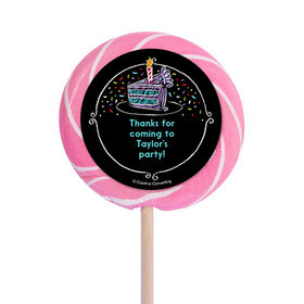 """Chalk Birthday Personalized 3"""" Lollipops (12 Pack)"""
