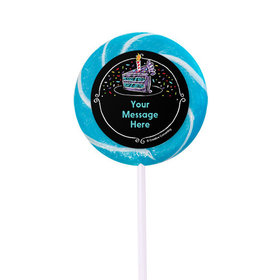 """Chalk Birthday Personalized 2"""" Lollipops (24 Pack)"""