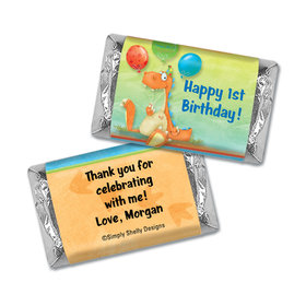 Personalized First Birthday Mini Wrappers
