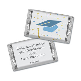Graduation Personalized Hershey's Miniatures Wrappers Cap & Confetti