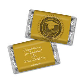 Graduation Personalized Hershey's Miniatures Wrappers School Seal