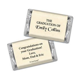 Graduation Personalized Hershey's Miniatures Wrappers Diploma with Gold Seal