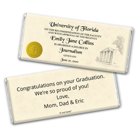 Graduation Personalized Chocolate Bar Wrappers Diploma with Gold Seal