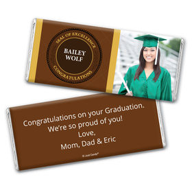 Graduation Personalized Chocolate Bar Seal with Photo