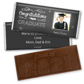 Graduation Personalized Embossed Chocolate Bar Chalkboard Photo