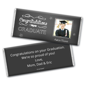 Graduation Personalized Chocolate Bar Chalkboard Photo