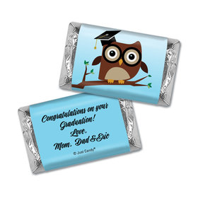 Graduation Personalized Hershey's Miniatures Wrappers Owl Pre-School