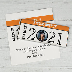 Graduation Personalized Chocolate Bar Wrappers Circle Year Photo