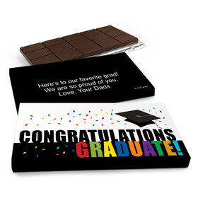 Deluxe Personalized Graduation Congratulations Graduate Chocolate Bar in Gift Box (3oz Bar)