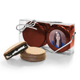 Personalized Graduation Full Photo 2PK Chocolate Covered Oreo Cookies
