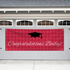 Personalized Graduation Giant Banner - Checkers