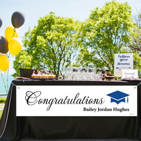 Personalized Script Congratulations Graduation 5 Ft. Banner