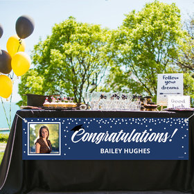 Personalized Photo & Cap Graduation 5 Ft. Banner