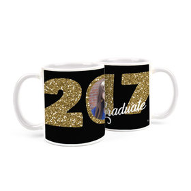 Personalized Graduation Glitter 15oz Mug