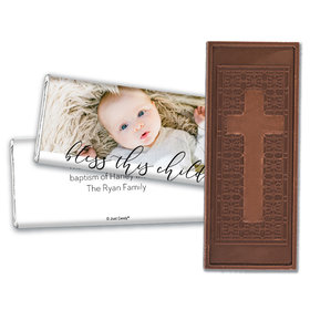 Personalized Religious Little Darling Blessings Embossed Chocolate Bar