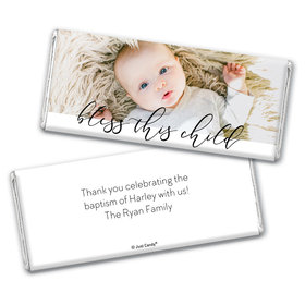 Personalized Religious Little Darling Blessings Chocolate Bar