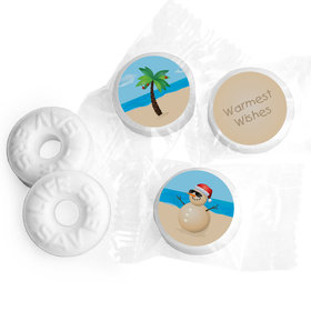 Happy Holidays Personalized Life Savers Mints Beach Wishes