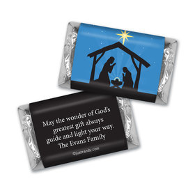 Christmas Personalized Hershey's Miniatures Holy Night Nativity