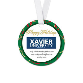 Personalized Round Christmas Ribbons Favor Gift Tags (20 Pack)
