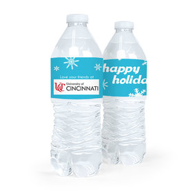 Personalized Christmas Holiday Snowflakes Water Bottle Sticker Labels (5 Labels)