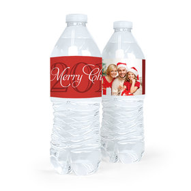 Personalized Christmas Photo Water Bottle Sticker Labels (5 Labels)