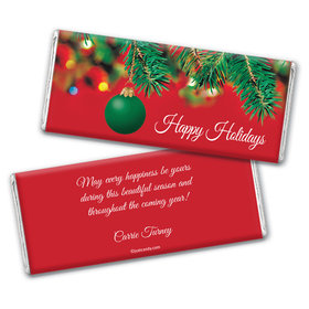 Christmas Personalized Chocolate Bar Wrappers Happy Holidays Ornament