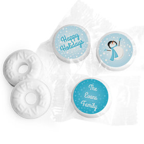 Happy Holidays Personalized Life Savers Mints Happy Holidays Frosty Snowman
