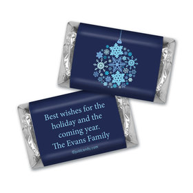Happy Holidays Personalized Hershey's Miniatures Season's Greetings Snowflake Ornament