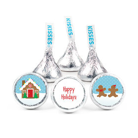 "Happy Holidays 3/4"" Sticker Gingerbread House (108 Stickers)"