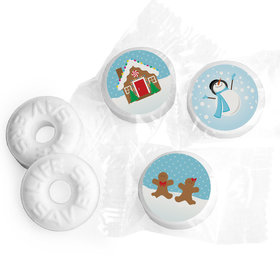 Happy Holidays Personalized Life Savers Mints Gingerbread House