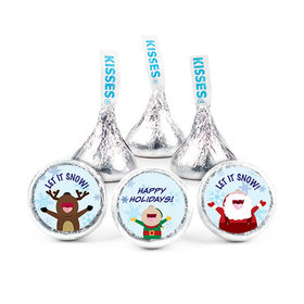 """Snow Dance Christmas 3/4"""" Stickers (108 Stickers)"""