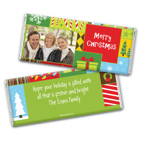 Christmas Personalized Chocolate Bar Wrappers Christmas Collage Photo