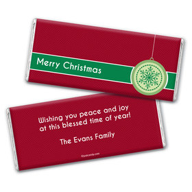 Christmas Personalized Chocolate Bar Wrappers Merry Christmas Traditional