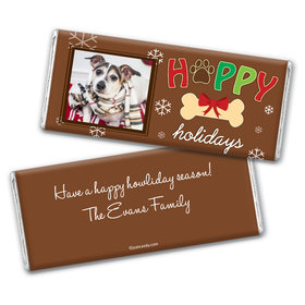 Christmas Personalized Chocolate Bar Wrappers Puppy Photo Happy Howlidays