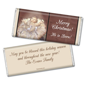 Christmas Personalized Chocolate Bar Away in a Manger