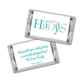Happy Holidays Personalized Hershey's Miniatures Wrappers Multicolor Happy Holidays
